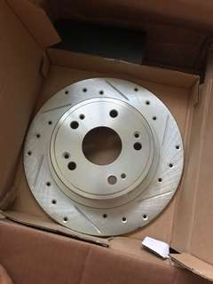Rear cross drilled rotor for Honda Accord cp1 / cp2 / cl7