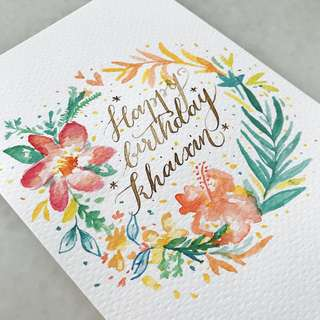 Customised watercolour painted cards for all occasions