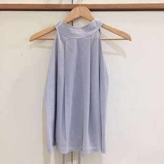 Halter Neck Grey Tank