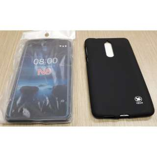 Slim Black Mate Android Nokia 8 5.3 inch Baby Skin SoftCase