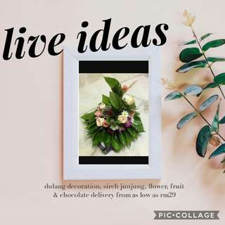 fresh flowers or artificial flowers deco
