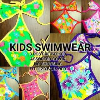 Kids swimwear 3pcs for 370 No choosing of design Freesize 1-2yrs old