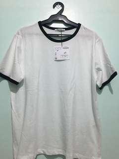 Authentic BNWT Zara Basic White Tshirt