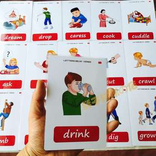🔔 🌈VERBS🌈FLASH CARDS(56PCS)