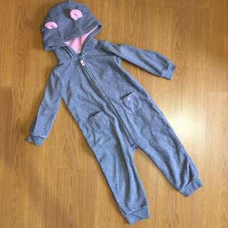 Carters - Fleece Footed Onesie (Mouse)