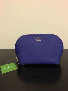 BNWT Kate Spade Blue Make Up Case