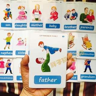 🔔 🌈FAMILY MEMBERS🌈FLASH CARDS(18PCS)