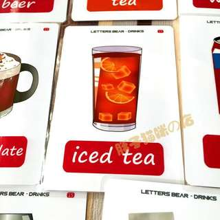 🔔 🌈DRINKS🌈FLASH CARDS(11PCS)