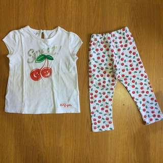 Terno - Cherry Top and Leggings Set