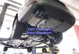 Jetta Twin turbo customer upgrades with jetex LTA approval twin tip catback system together with the Jetex high flow performance drop in air Filter which is 99% filtration at 2.8 microns ..