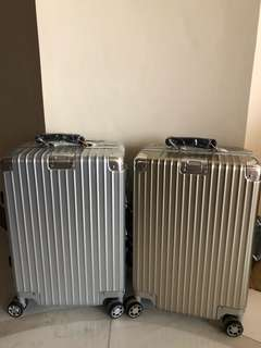 Inspired 20 inch RIMOWA Champagne Gold luggage