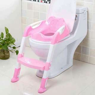 Baby Step Toilet Seat Potty Trainer - PINK
