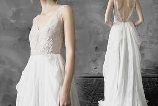 全新歐美style仙氣輕婚紗