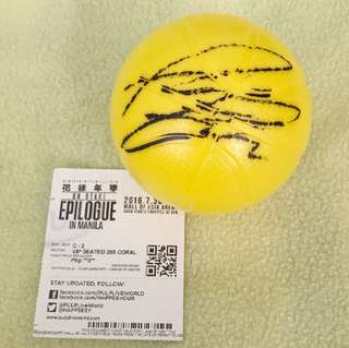BTS RM Signed Ball from Epilogue in Manila 2016