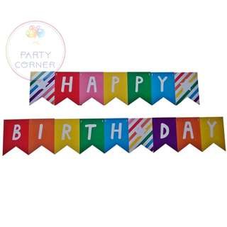 Colorfull HBD Bunting Banner