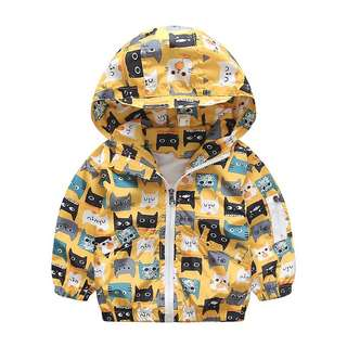 Instock - cat jacket, baby infant toddler girl children sweet kid happy abcdefgh so pretty