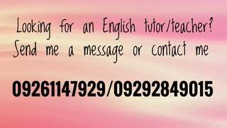 English tutor/teacher here