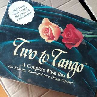 2 to tango couple wish box