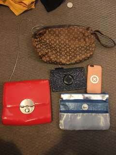 Mimco and LV bags and phone case