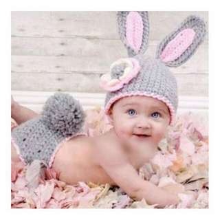 Newborn Crochet Costumes - Bunny 2pc Set