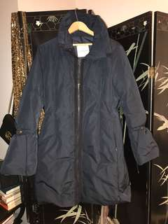 Moncler long coat with down padding