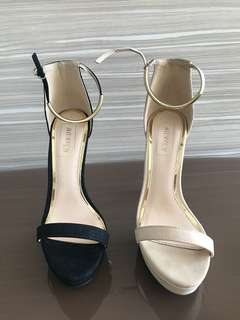 High heels (black and nude)