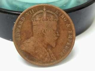 King Edwards Vii 1908, 1/2cent