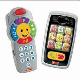 fisher price phone & remote