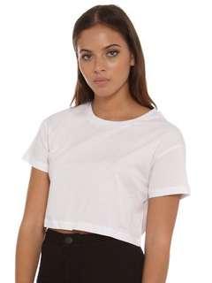 NUDE LUCY   XXS   Viki Crop Tee in White   Shirt
