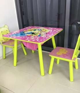 Winnie The Pooh Children's Table and 2 Chairs