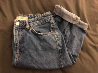 Top shop high waisted mom jeans