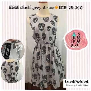 H&M skull dress