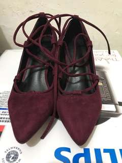 黑色綁帶性感高踭鞋