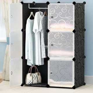 Cabinet 6 Cubes Black Stripes DIY Wardrobe Black Stripes