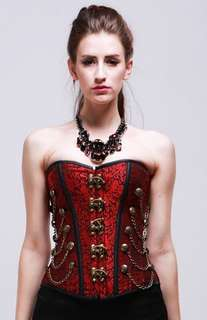 Red Vintage Overbust Corset