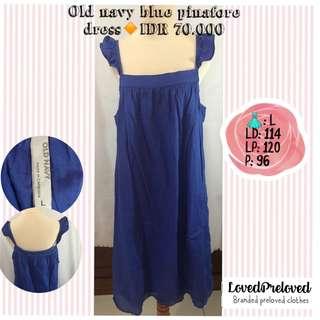 Old navy blue pinafore dress