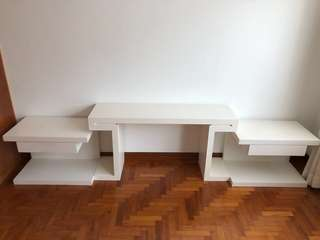 TV console + 2 bed side table