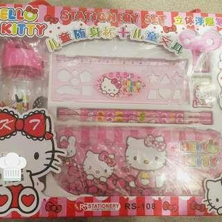 Hello Kitty & Mickey stationery set
