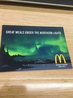 芬蘭麥當勞名信片