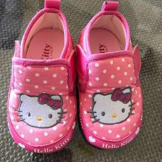 🚚 嬰兒鞋 女寶 凱蒂貓 學步鞋 贈襪子