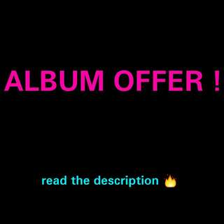 ALBUM OFFER!! [WANNA ONE WINNER STRAY KIDS TVXQ EXID TWICE EXO CBX VIXX YOO SEONHO HWANG CHIYEUL IN2IT JBJ PENTAGON MAMAMOO NCT GOT7 MONSTA X]