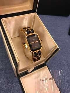 專櫃真品 S號 9成新 Chanel 香奈兒 首映 黑金 鏈錶