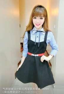 Black outerwear dress