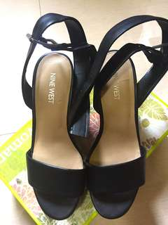 ORIGINAL NINE WEST CRISSCROSS WEDGE SANDALS
