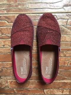 Toms Red Glittered Shoes