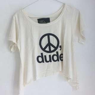 peace dude crop top