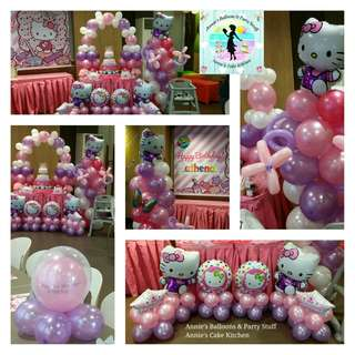 Hello Kitty Party Balloon Arrangement