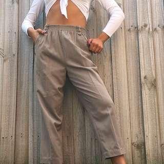 Vintage High Waist Khaki Pants