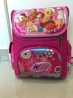 Ergonomic primary school bag pink