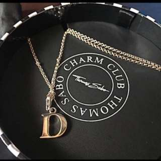 "REPRICED Brand New Thomas Sabo Necklace with ""D"" Pendant"